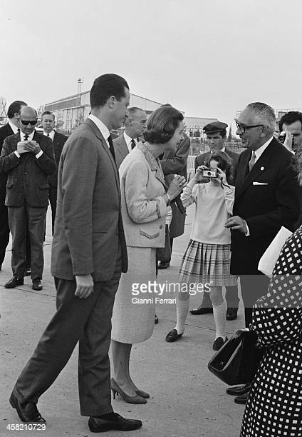 The Belgians Royals Baudouin and Fabiola during a visit in Sevilla Seville Andalusia Spain
