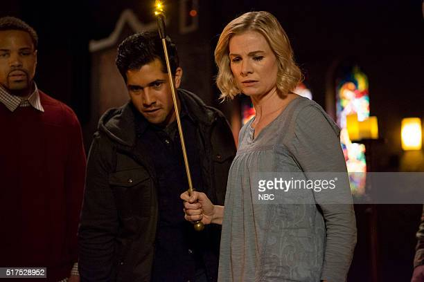GRIMM 'The Believer' Episode 516 Pictured Walter Perez as Benjamin McCullough Melinda Page Hamilton as Joan Vark