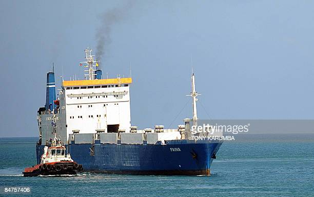 The Belize flagged MV Faina is escorted on February 12 2009 into the port of Mombasa by a Kenya Ports Authority tugboat Released almost a week ago...
