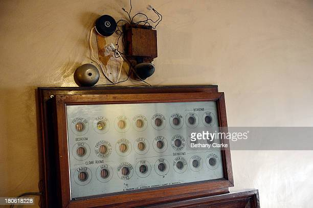 The bell call in the servants quarters of Pineheath house on September 4 2013 in Harrogate England The untouched 40bedroom house belonged to wealthy...