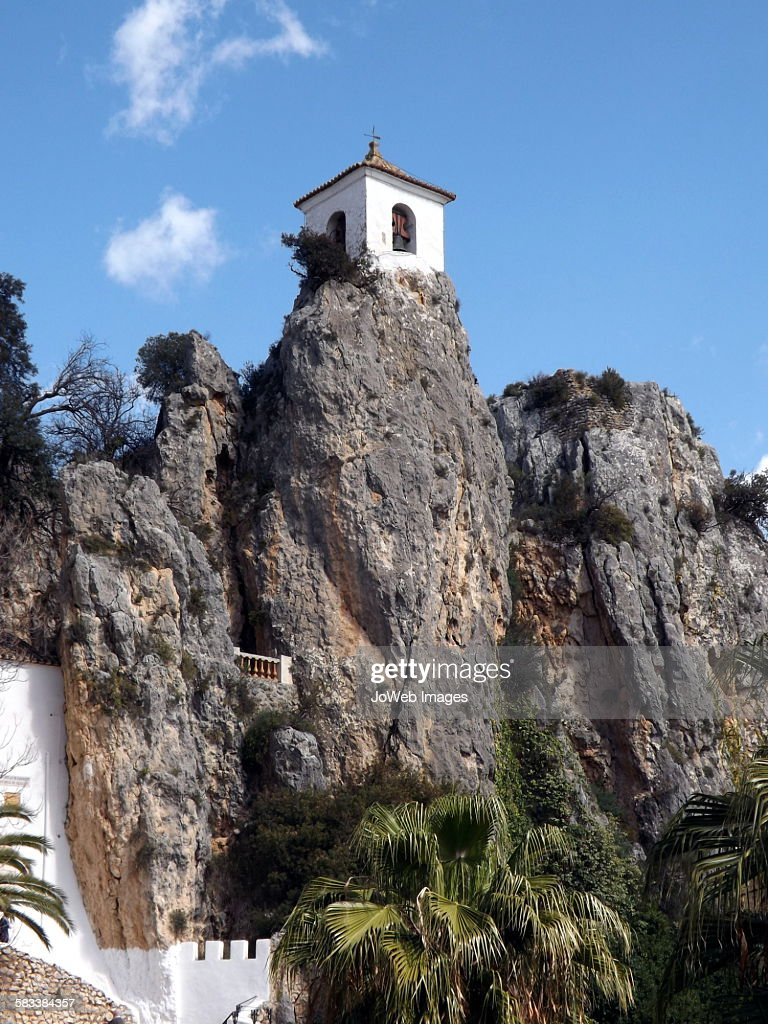 The Bell Tower, Guadalest, Spain : Stock Photo