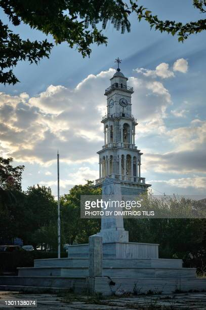 the  bell tower of argalasti - dimitrios tilis stock pictures, royalty-free photos & images