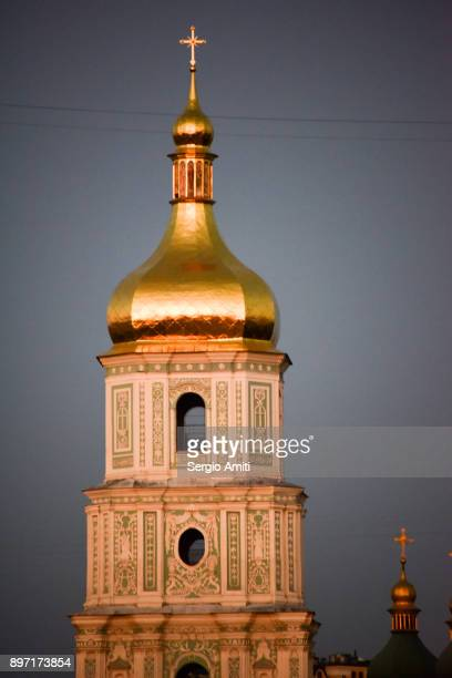 The bell tower of Kiev's Saint Sophia Cathedral