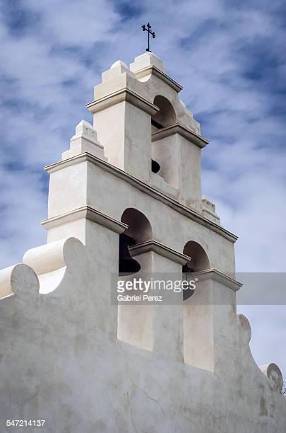 the bell tower of san juan capistrano, san antonio - cité de l'architecture et du patrimoine photos et images de collection