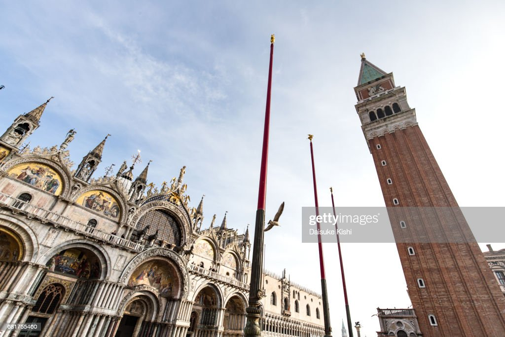 The Bell Tower of St Mark's Basilica in Venice, Italy : Stock Photo