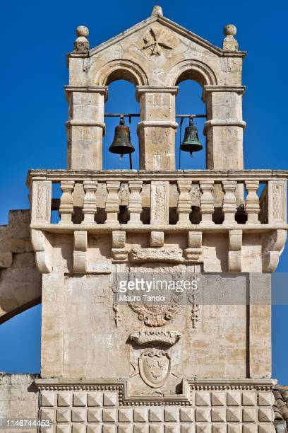 the bell tower of the church of mater domini, matera, italy - mauro tandoi stock pictures, royalty-free photos & images
