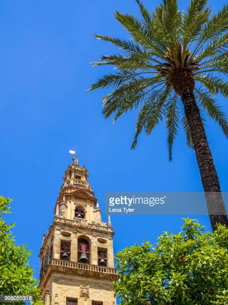 The bell tower of the Cordoba Mezquita a popular tourism destination in southern Spain