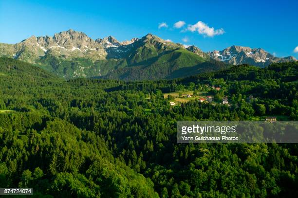 the belledonne mountain range, isere, france - rhone alpes stock photos and pictures