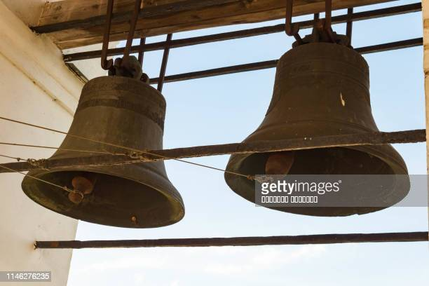 the bells in the belfry - bell stock pictures, royalty-free photos & images