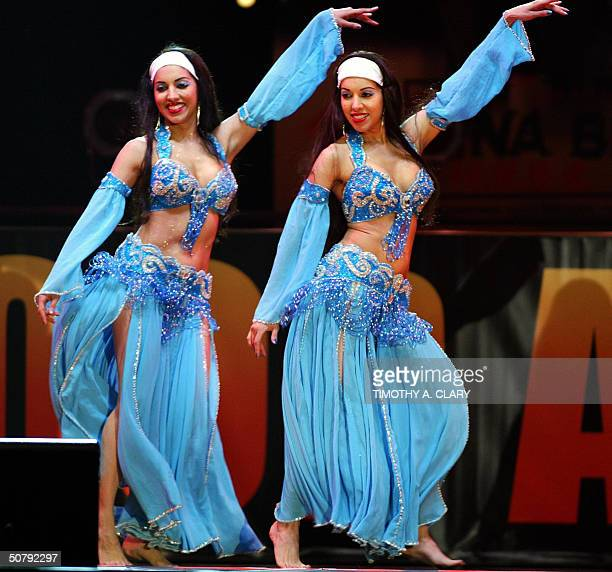 The Belly Twins Neena and Veena open the show during the 2004 Bollywood Movie Awards at the Trump Taj Mahal 01 May 2004 in Atlantic City New Jersey...