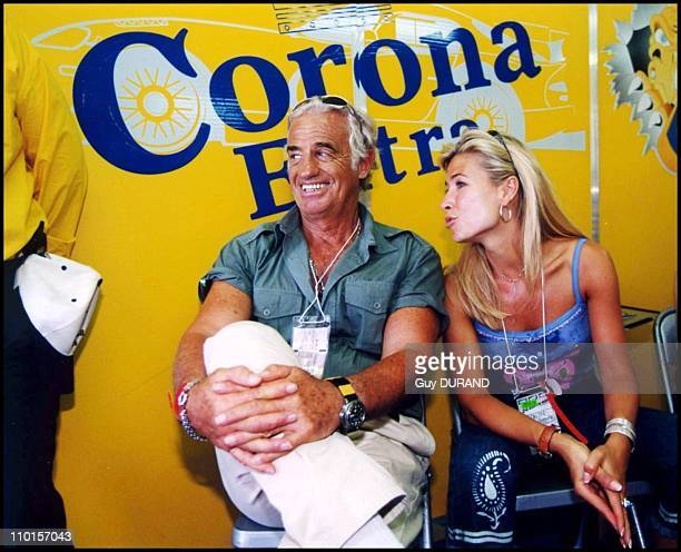 The Belmondo family at the '24 heures du Mans' in Le Mans France on June 17 2000 JeanPaul Belmondo Natty