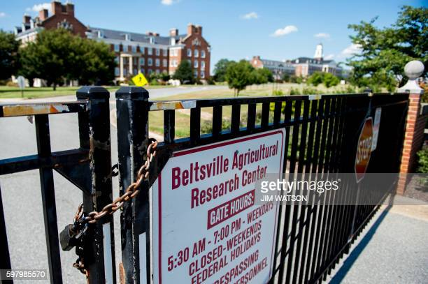 The Beltsville Agricultural Research Center in Beltsville Maryland has its gates locked because the Agriculture Department reported August 30 2016 it...