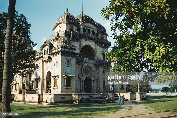 The Belur Math or Belur Mutt the headquarters of the Ramakrishna Mission on the banks of the Hooghly River in Howrah India circa 1965