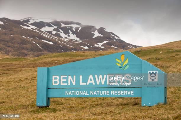 the ben lawers national nature reserve above loch tay in scotland, uk - ben cooper stock-fotos und bilder