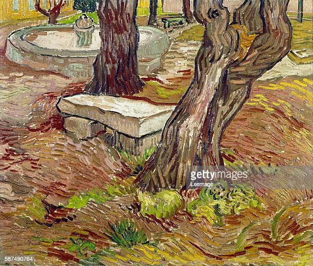 The Bench at SaintRemy By Vincent Van Gogh Oil on canvas 39x46 cm c1899 Museu de Arte Sao Paulo Brazil