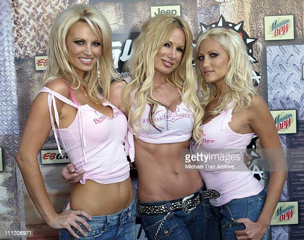 The Benchwarmer Girls during GPhoria 2005 The Mother of All Videogame Award Shows Arrivals at Los Angeles Center Studios in Los Angeles California...