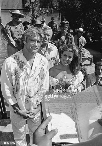 TEAM The Bend in the River Episode 2 Aired 9/25/84 Pictured Barry Van Dyke as Brian Lefcourt George Peppard as Col John Hannibal Smith Marla Heasley...