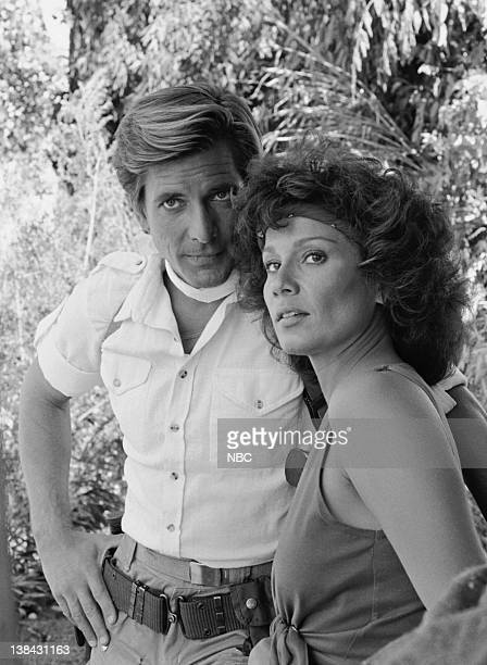 TEAM The Bend in the River Episode 2 Aired 9/25/84 Pictured Dirk Benedict as Lt Templeton Faceman Peck Marta DuBois as Bobbi Cardena