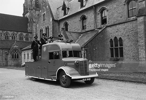 The Benedictine monks of Belmont Abbey in Hereford double as firemen of the NFS during World War II 1942 Original Publication Picture Post 1186...