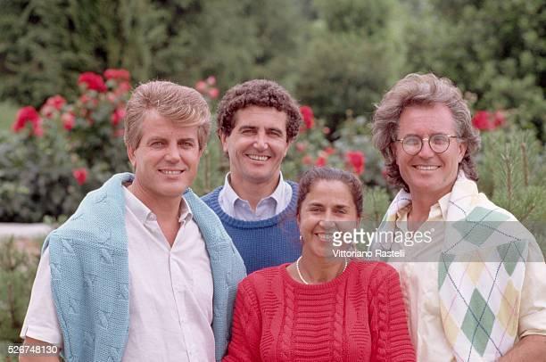 The Benetton siblings Gilberto Carlo Giuliana and Luciano