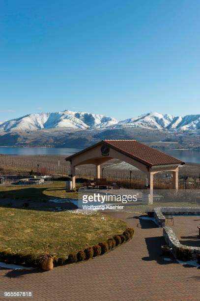 The Benson winery in winter is a Mediterraneaninspired estate winery overlooking Lake Chelan in Eastern Washington USA
