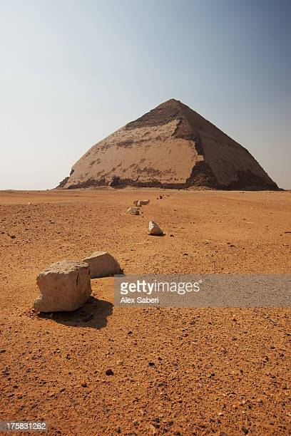 the bent pyramid at the royal necropolis of dahshur. - alex saberi fotografías e imágenes de stock