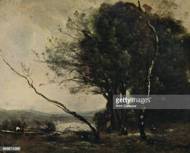 The Bent Tree', 1855-1860, . The painting is held by the National Gallery of Victoria, Australia. From International Art: Past and Present by Alfred...