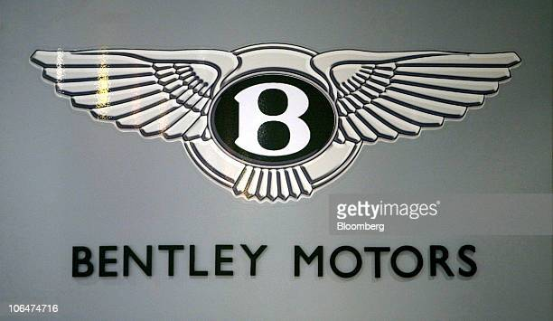 The Bentley Company Logo Sits On A Sign At Volkswagen Ag Factory In Crewe