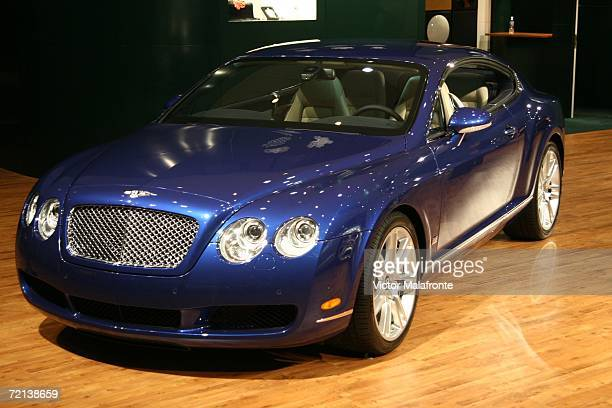 The Bentley Continental GT is displayed at the 36th Annual South Florida International Auto Show at the Miami Beach Convention Center on October 10...
