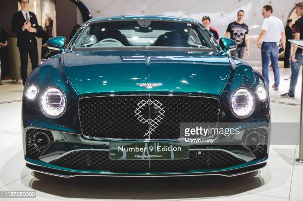 The Bentley Continental GT No.9 Edition at the Geneva International Motorshow 2019. The No.9 Edition will be a limited run version of their...