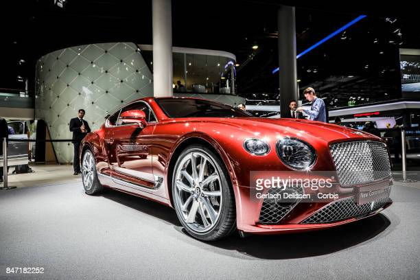 The Bentley Continental GT on display at the 2017 Frankfurt Auto Show 'Internationale Automobil Ausstellung' on September 13 2017 in Frankfurt am...