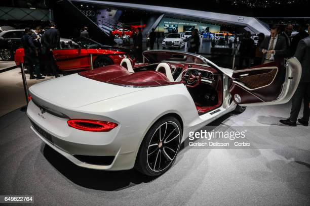 The Bentley EXP12 on display during the second press day of the Geneva Motor Show 2017 at the Geneva Palexpo on March 8 2017 in Geneva Switzerland