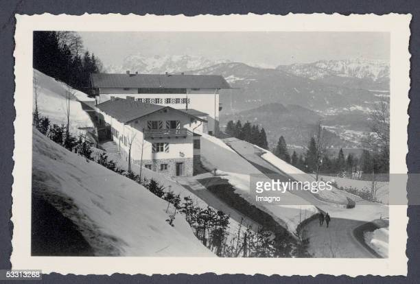 The Berghof of Adolf Hitler at the Obersalzberg near Berchtesgaden View from above at the snow covered Berghof in winter Photography around 1936 [Der...