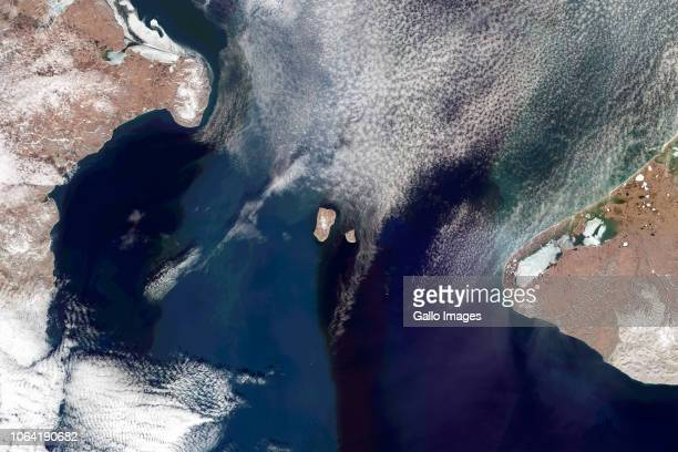 The Bering Strait links Alaska United States of America and Siberia Russia on June 14 2017 in Bering Strait Bering Sea