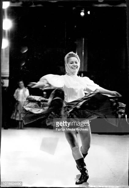 The Berioska Dance Company of Moscow rehearsed at the Tivoli for they opening tonight.One of the women dancers spins during the rehearsal. May 06,...