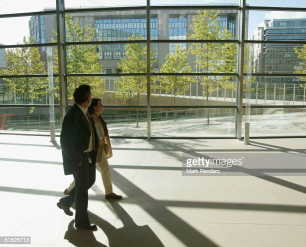The Berlaymont building the headquarters for the European Commission is unveiled October 21 2004 in Brussels Belgium Berlaymont originally built in...