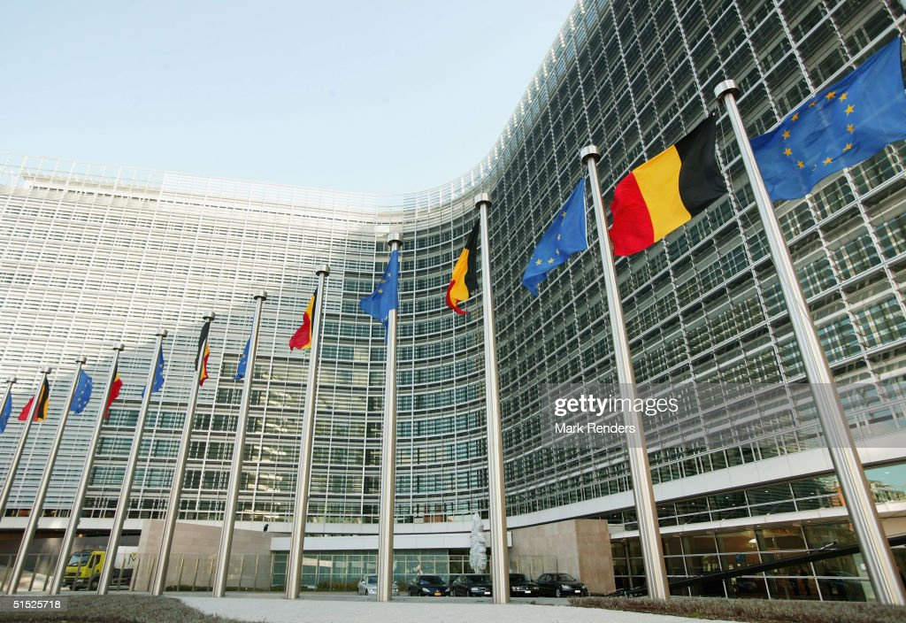 EC Berlaymont Headquarters Unveiled In Brussels : News Photo