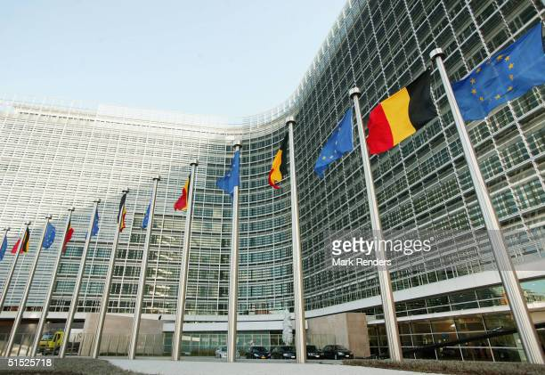The Berlaymont building, the headquarters for the European Commission, is unveiled October 21, 2004 in Brussels, Belgium. Berlaymont, originally...