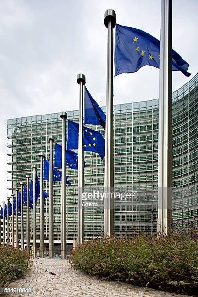 The Berlaymont headquarters of the European Commission at Brussels Belgium