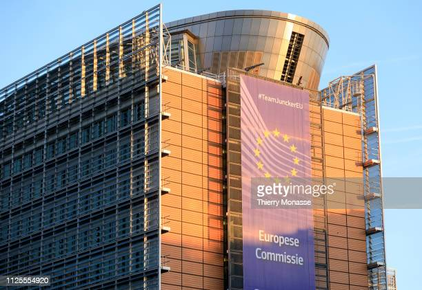 The Berlaymont seat of the EU Commission on 18 February in Brussels Belgium It houses the offices of the President of the European Commission and the...