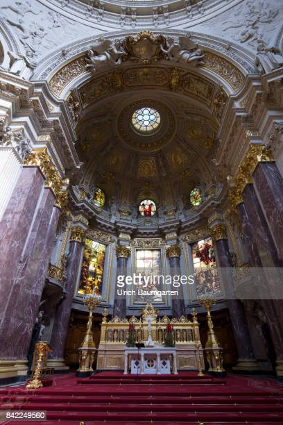 The Berlin Cathedral in thecenter of the cityInterior view altar and dome