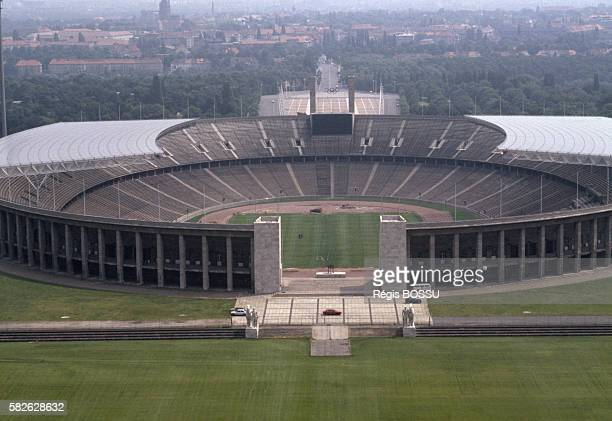 The Berlin olympic stadium whose maintenance is paid for by the British