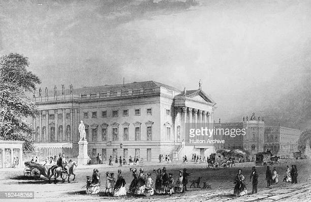 The Berlin State Opera on Unter Den Linden in Berlin Germany circa 1850 An engraving by A H Payne after A Carse