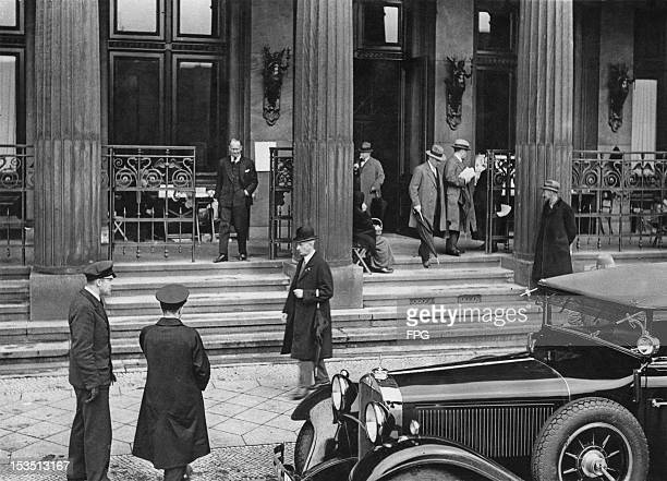 The Berlin Stock Exchange remains shut as a result of the closing of the London Exchange during the Great Slump or Great Depression in the United...