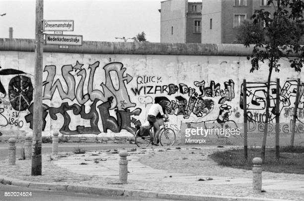 The Berlin Wall pictured is the West wall covered in graffiti 6th August 1984