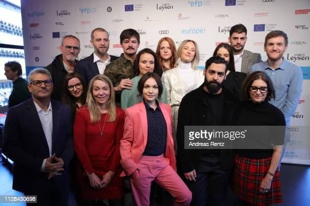 The Berlinale Shooting Stars and team are seen during the photo call presenting of the European Shooting Stars 2019 as part of the 69th Berlinale...