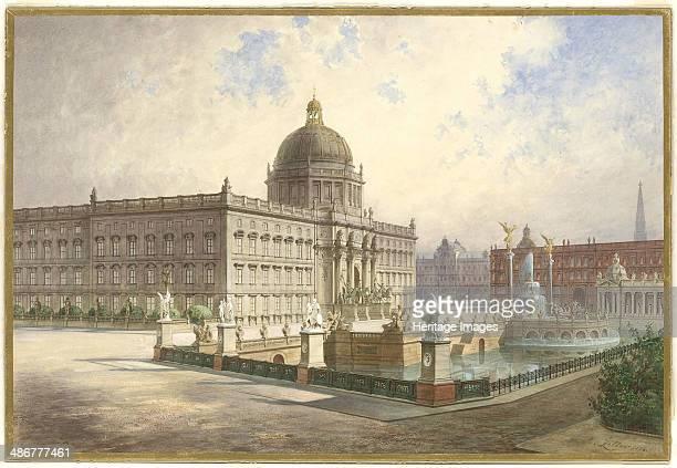 The Berliner Stadtschloss. View of the palace facade from the palace bridge, 1886. Artist: Ziller, Hermann