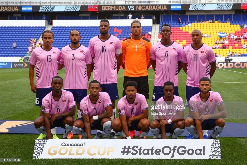 SOCCER: JUN 24 CONCACAF Gold Cup Group B - Bermuda v Nicaragua : Fotografia de notícias