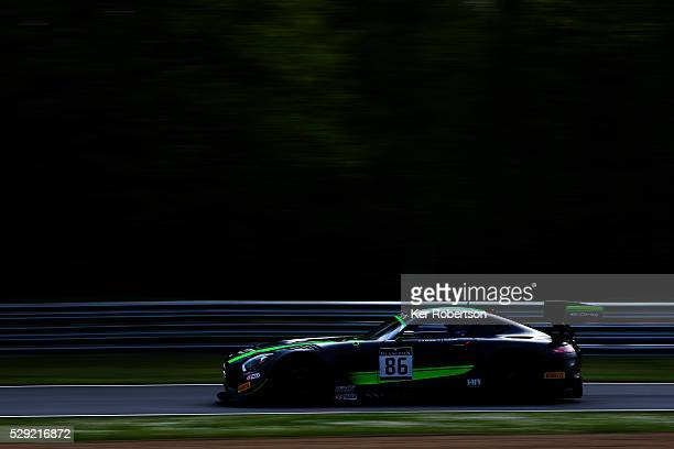 The Bernd Schneider and Jules Szymkowiak HTP Motorsport MercedesAMG GT3 drives during practice for the Blancpain GT Series Sprint Cup at Brands Hatch...