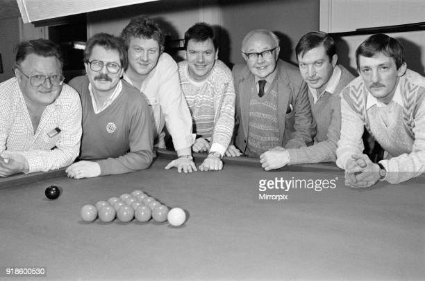 The Berry Brown Liberal Club snooker team Armitage Bridge 14th February 1991 Pictured are Pete Dunford Malcolm Heelely Garry Burgin Alan Muff Sid...